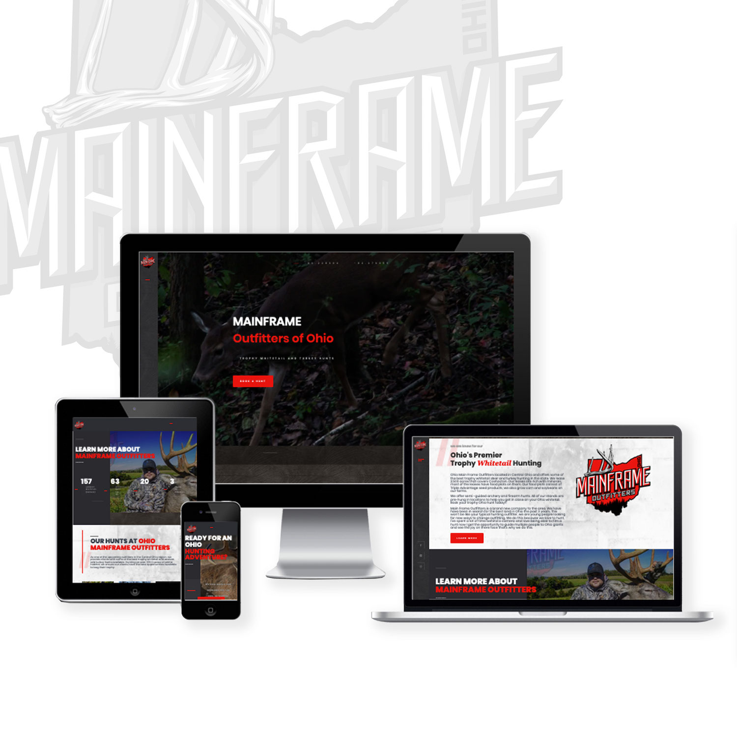 Deer hunting guide website design