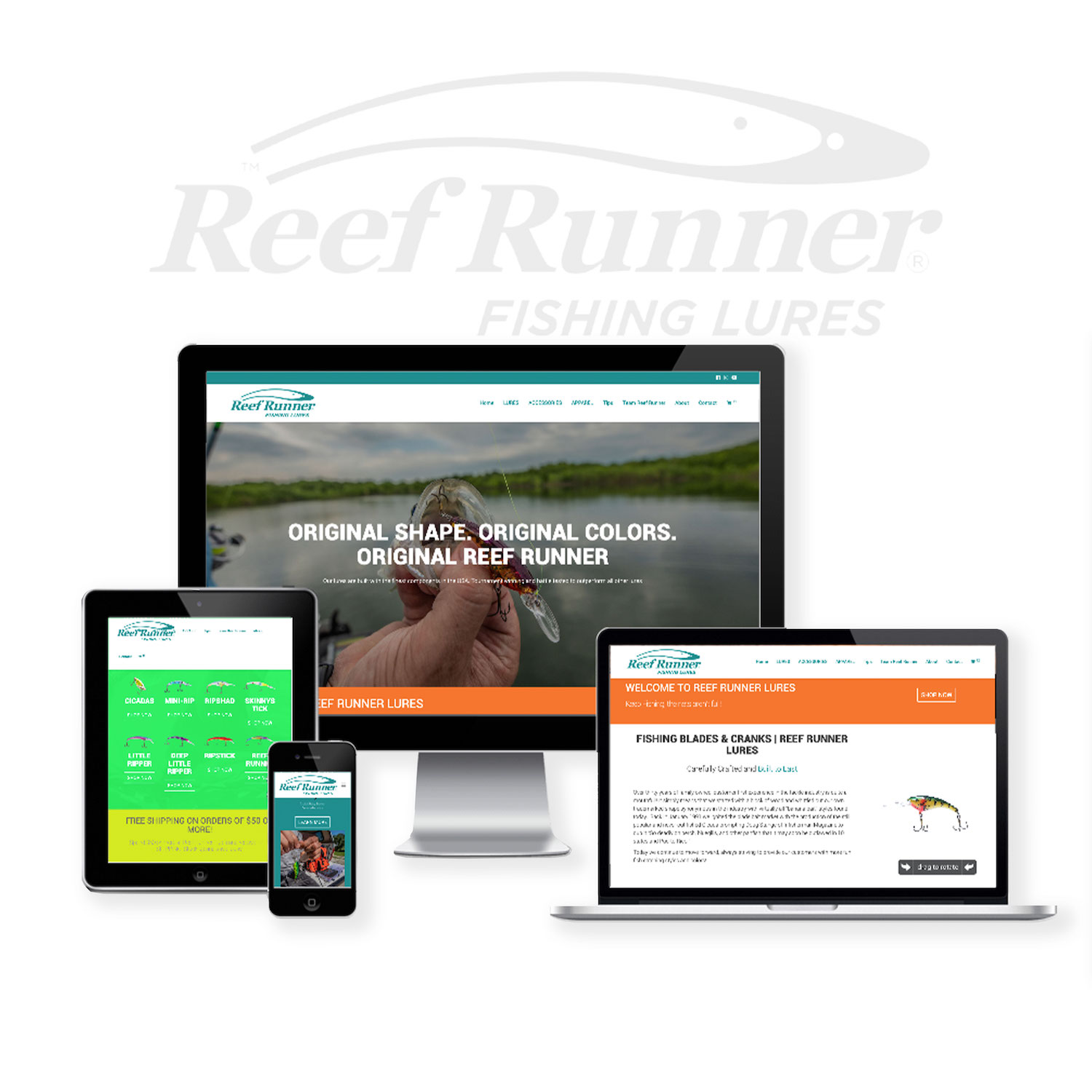 Fishing Lure Website Design