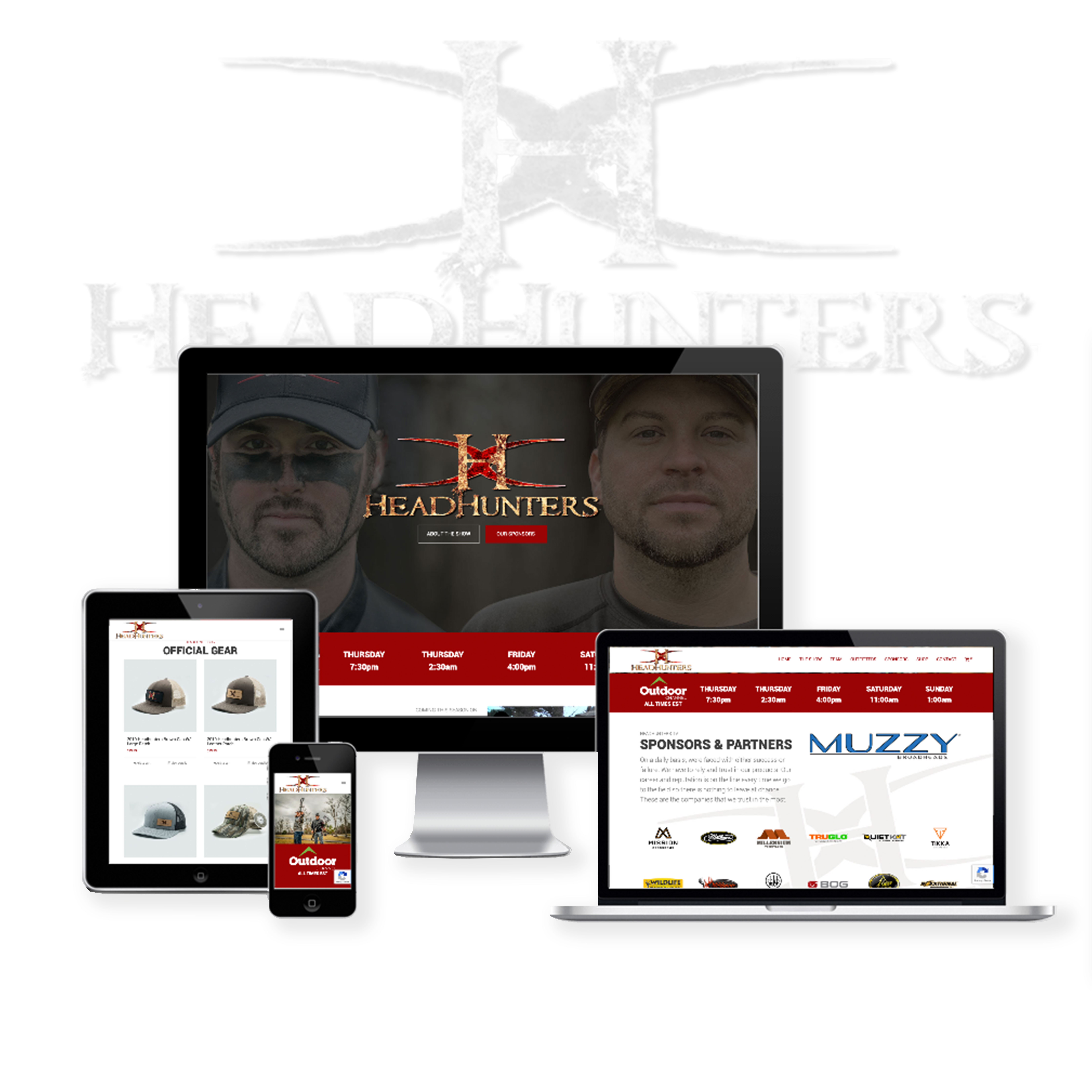 Hunting Tv Show Website Design