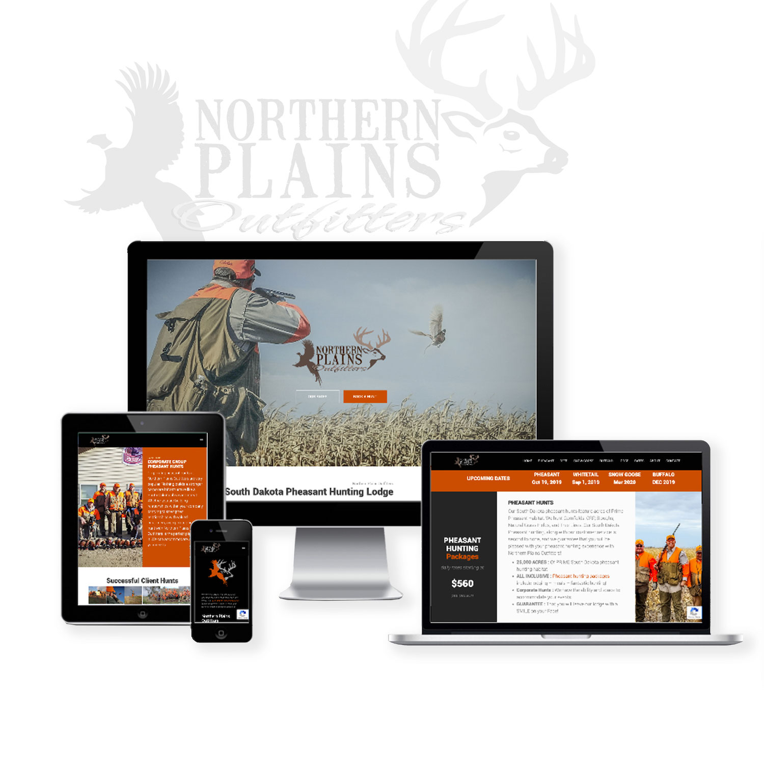 Pheasant Hunting Outfitter Website Design