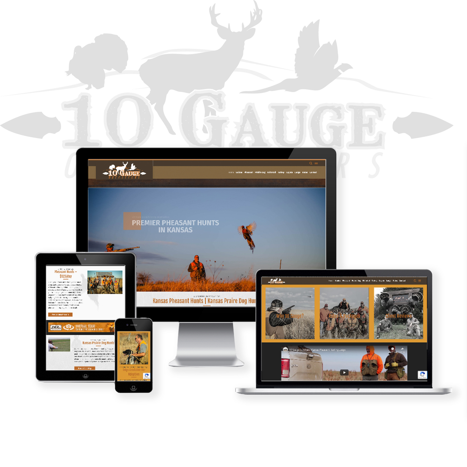 Hunting guide and Outfitter Website Design