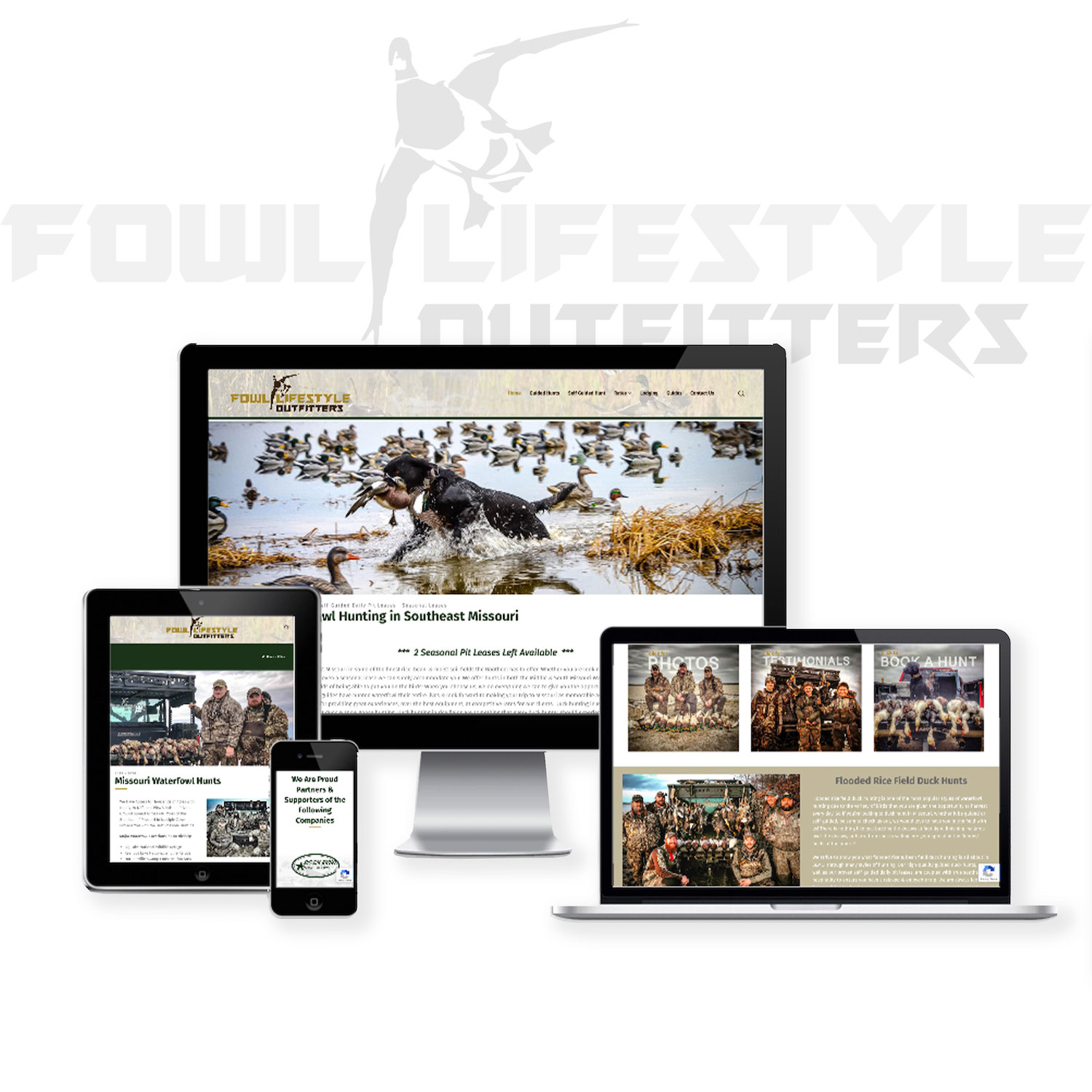 Waterfowl guide website design
